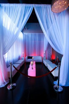 VIP Lounge. Perfect for a chic club themed Bar Mitzvah or Bat Mitzvah.