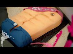 Girls' Night Out - Männer Sixpack Torte - Fondant Oberkörper Torte - Kuchenfee – AD - YouTube