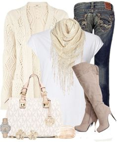 Casual Winter White Outfit ♡