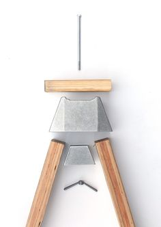 A-Joint, Sand-cast Joinery System by Henry Wilson Sawhorse Brackets, Console Table, Diy Furniture, Furniture Design, Wilson Furniture, Ceramic Furniture, Concrete Furniture, Plywood Furniture, Outdoor Furniture