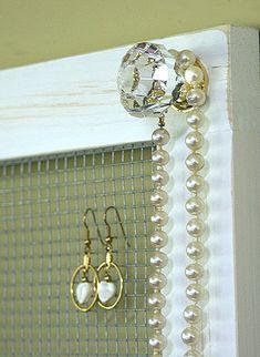 Jewelry+Holder+Storage+Organizer+Crystal+Knobs+by+GardenCricket,+$42.00