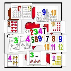Recursos para el aula: Números para aprender y contar