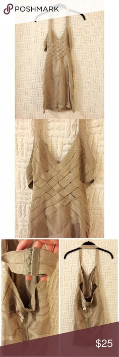 NWT Foreign Exchange Gold Bandage Dress Brand new with tag Foreign Exchange gold bandage dress size small.  Last photo is from a friend's friend who has the same dress.  No trades. Foreign Exchange Dresses Mini