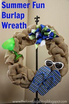 Summer Fun Burlap Wreath