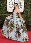 lucy liu golden globes, the dress is way different and I love the pale blue with the floral. Totally french royalty like.