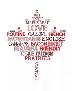Canada (obviously not created by a Canuck cuz we call it 'back bacon,' not Canadian--that's the American term for it. otherwise agree with everything) - the bacon, not everyone eats bacon (or pork product for that matter) Canada Day Party, Canadian Things, I Am Canadian, Canadian Maple Leaf, Canadian Quilts, Canadian Culture, Quebec, Ottawa, Ontario