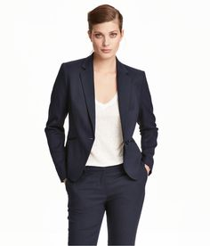 Check this out! Fitted jacket in woven fabric with notched lapels, welt front pockets, and back vent. Lined. - Visit hm.com to see more.