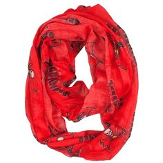 NFL Tampa Bay Buccaneers Sheer Infinity Scarf One Size Red