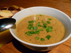 Sweet Potato Soup (Curried Kumara Soup) - substitute butter/cream/milk with Greek yoghurt and almond or cashew milk New Zealand Food And Drink, Soup Recipes, Cooking Recipes, Recipies, Healthy Recipes, Coconut Soup, Fresh Ginger, Recipe Using, Thanks