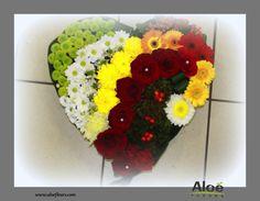 compositions florales en coeur