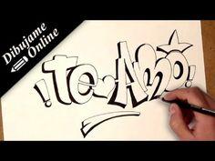 YouTube Graffiti Drawing, Graffiti Lettering, Graffiti Art, Love Drawings, Animal Drawings, Pop Up Box Cards, Skull Tattoo Design, Lettering Tutorial, Love Images