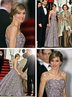 anythingandeverythingroyals:  Then Crown Prince Felipe and Crown Princess Letizia (now King and Queen) with Queen Sofia at the pre-wedding dinner for the Duke and Duchess of Cambridge, April 28, 2011