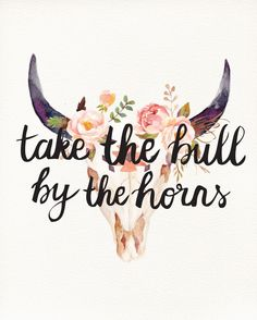 """Take the bull by the horns."""