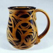 Celtic Pottery Mug in Brown 18 oz