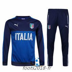 2ef13f4e3545f Nouveau Survetement de foot Italie Bleu/Noir 2016 2017 Sweatpants, Blue,  Shopping,