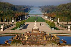 Gardens at Chateau de Versailles, France.