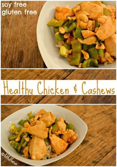 Healthy Chicken and Cashews | Healthy Chinese Food | Recipes | Soy Free | Gluten Free