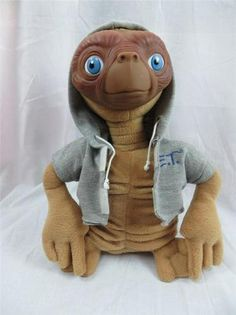 E T Plush Stuffed Animal Applause Phone Home Gray Hoodie 11 inch Tall Alien | eBay