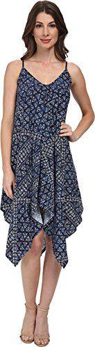 DKNY Jeans Women's Batik Print Dress, Mood Indigo, X-Small: Tank style, high low hem Great spring dress Mood Indigo, Batik Prints, Dkny Jeans, Batik Dress, Cool Things To Buy, Stuff To Buy, High Low, Amazon, Spring