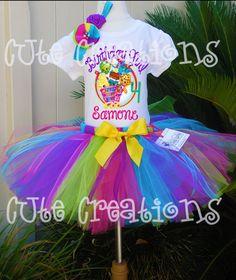 Shopkins Personalized Birthday tutu dress set t by cutecreations33