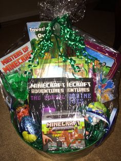 Minecraft easter basket annie may pinterest easter baskets minecraft easter basket negle Choice Image