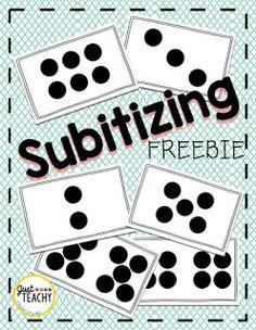 Subitizing Freebie, www.JustTeachy.com