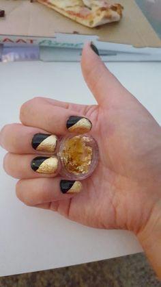 Nail art; gold nail foils. See how I did them on my nail art blog