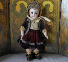 Early Period Pressed Bisque Jumeau French Bebe in Petite Size  Joan & Lynette Antique Dolls Exclusive to Ruby Lane