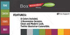 Box Accordion Menu - Responsive