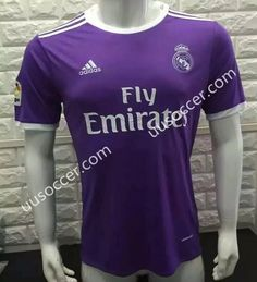 2016-17 Without LFP Real Madrid Away Purple Thailand Soccer Jersey AAA
