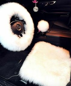Shipping: Can take up to 20 business days - 1 Piece steering wheel cover included Real fur ~Visit our Return Policy & Shipping Policy ~See Contact for questions ~ SEE MEASURING CHART - Measuring Chart Cute Car Accessories, Car Interior Accessories, Pink Car Interior, Interior Ideas, Interior Design, Inside Car, Girly Car, Car Essentials, Car Goals