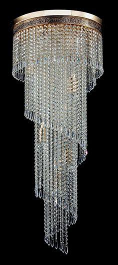 Diamant Crystal Empire Kronleuchter Cascade Gold Kristall| KronleuchterHaus