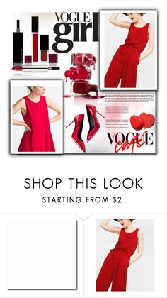 """""""Red vogue"""" by ira-melnik ❤ liked on Polyvore featuring moda, Zara e Givenchy"""