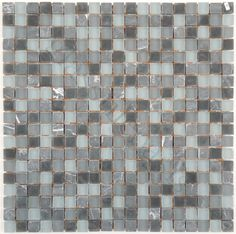 """ISI  Crystile Blends, 1/2"""" x 1/2"""", Smoky, Frosted, Grey, Glass and Stone"""