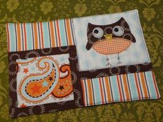 Owl Mug Rug by scrapnchick, via Flickr