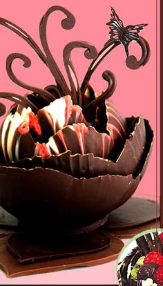 Learn how to make chocolate decorations online classes Chocolate Delight, Death By Chocolate, I Love Chocolate, Chocolate Heaven, Modeling Chocolate, Chocolate Art, How To Make Chocolate, Chocolate Lovers, Chocolate Garnishes