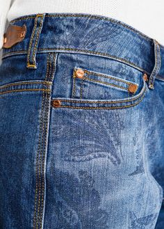MANGO - Paisley denim shorts