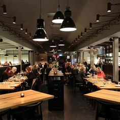 Farang Restaurant -  Ground floor of an old industrial building was turned into a 700 m² fine dining restaurant.