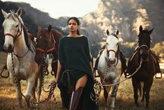 Norman Jean Roy for Porter #3 Summer 2014 w/ Malaika Firth | Days Of Heaven
