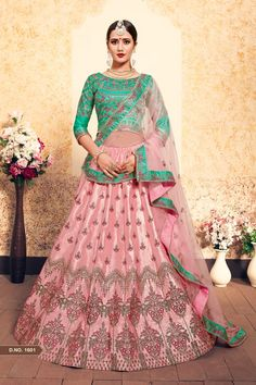 Soft pink lehenga choli with dupatta. The lehenga can be customized up to Size To complete the look matching choli and dupatta is availabl Lehenga Choli Online, Ghagra Choli, Bridal Lehenga Choli, Lehenga Style, Pink Lehenga, Anarkali Lehenga, Bollywood Lehenga, Indian Dresses, Indian Outfits