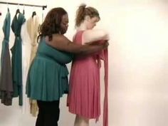 Convertible dress instructional video - I like the styles shown at 2.17mins and 4.06mins (good coverage for boobs, and the 2.17 I could wear a normal bra!)