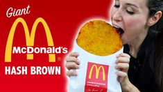 What's better than a McDonald's hash brown? A giant McDonald's hash brown. Mcdonalds, Mcdonald Menu, Snapchat, Giant Food, Foods To Avoid, Hacks, Recipe Details, Chicken Nuggets, Copycat Recipes