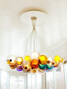 Spheres and multi-colored fixtures were seen at Euroluce this spring.  Bocci at #Euroluce 2013 @iSaloni #milandesignweek #mdw13 #colour