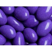 Maybe for the sweet table ===> Purple Chocolate Jordan Almonds - Plump, crunchy almonds surrounded by a thick layer of deluxe dark chocolate and a thin candy coating of stunning purple color.