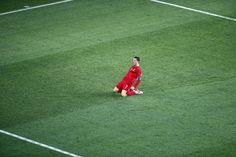 Cristiano Ronaldo celebrates winner against the Netherlands.