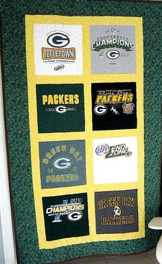Green Bay Packer Quilt NFC North Champions Green Bay Packer T Shirts One of a kind!