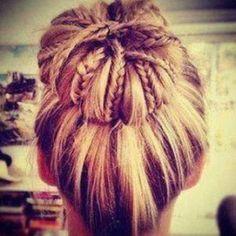 trend double threat: bun & braids