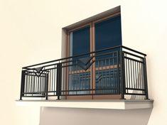 Balustrada Vegas - MaxGates Staircase Railing Design, Home Stairs Design, House Design, Balcony Grill Design, Balcony Railing Design, Front Gate Design, Door Gate Design, Steel Railing, Grades