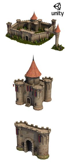 Top-Down Medieval Castle Start building your own medieval kingdom quickly with this great new model set! It includes a range of lovingly crafted modular castle components that can be used to create all sorts of castle big or small castle designs. Included pieces are: -Central Fort. -Castle Gate. -Fountain. -2 Castle Towers. -Rotunda. -Bridge. -2 walls. -3 Rocks. -Vegatation (2 trees,Grass,Foliage). -Props (Flags,Torch, Shed,Door).