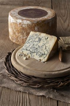 Midget Stilton-rich, creamy with a rounded flavor- my favorite cheese! Stilton Cheese, Fromage Cheese, Queso Cheese, Wine Cheese, Cheese Shop, Cheese Lover, Antipasto, Fondue, French Cheese